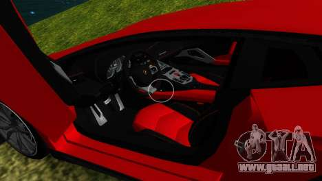 Lamborghini Aventador LP720-4 50th Anniversario para GTA Vice City interior