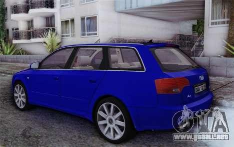 Audi A4 2005 Avant 3.2 Quattro Open Sky para GTA San Andreas left