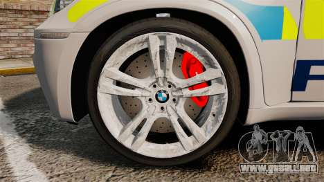 BMW X5 Police [ELS] para GTA 4 vista hacia atrás