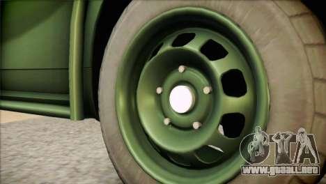 Dacia Duster Army Skin 1 para GTA San Andreas vista posterior izquierda
