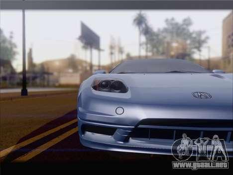 Acura NSX para GTA San Andreas left