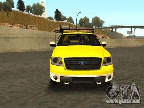 Ford F-150 para GTA San Andreas vista posterior izquierda