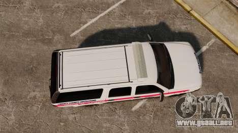 Chevrolet Suburban 2003 AMR [ELS] para GTA 4 visión correcta