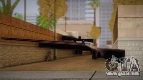 Rifle de francotirador de Max Payn para GTA San Andreas sucesivamente de pantalla