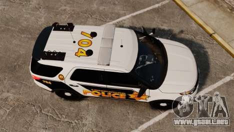 Ford Explorer 2013 Longwood Police [ELS] para GTA 4 visión correcta
