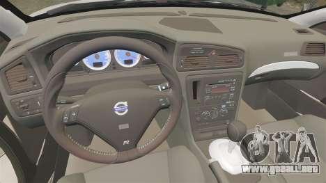 Volvo S60R para GTA 4 vista hacia atrás