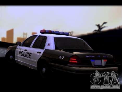 Ford Crown Victoria 2005 Police para la vista superior GTA San Andreas