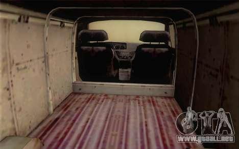 Dodge RAM Van 1500 para GTA San Andreas vista posterior izquierda