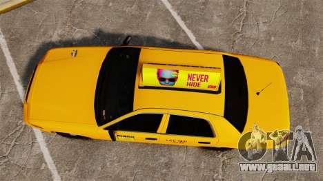 Ford Crown Victoria 1999 LCC Taxi para GTA 4 visión correcta