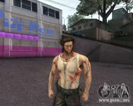X-men Origins: Wolverine [Skins Pack] para GTA San Andreas segunda pantalla