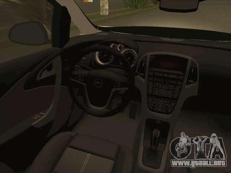 Opel Astra J 2011 para la vista superior GTA San Andreas