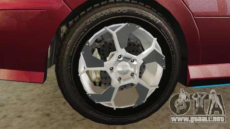 Chavos RSX para GTA 4 vista hacia atrás