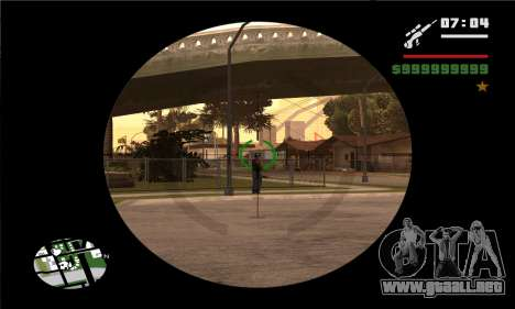GTA V Sniper Scope para GTA San Andreas sucesivamente de pantalla