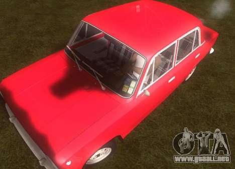 Fiat 124 para GTA San Andreas vista hacia atrás