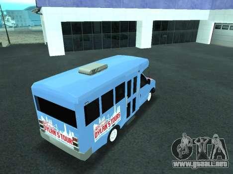 Ford Shuttle Bus para la vista superior GTA San Andreas