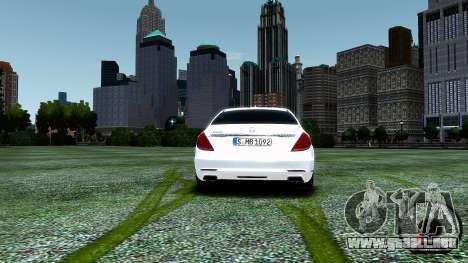 Mercedes-Benz S-Class W222 2014 para GTA 4 visión correcta