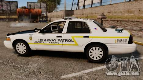 Ford Crown Victoria 2011 LCSHP [ELS] para GTA 4 left