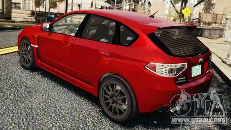 Subaru Impreza WRX STi 2010 para GTA 4 visión correcta