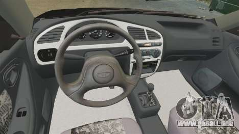 Daewoo Lanos Style 2001 Limited version para GTA 4 vista interior