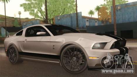 Ford Shelby GT500 2013 para vista lateral GTA San Andreas