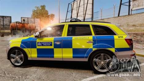 Audi Q7 Metropolitan Police [ELS] para GTA 4 left