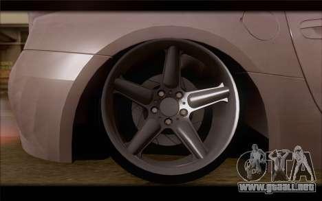 BMW Z4 Stance para GTA San Andreas vista posterior izquierda