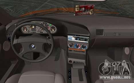 BMW 325i E36 Convertible 1996 para GTA San Andreas vista posterior izquierda