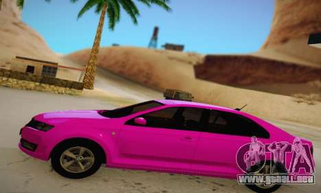 Skoda Rapid 2014 para GTA San Andreas left