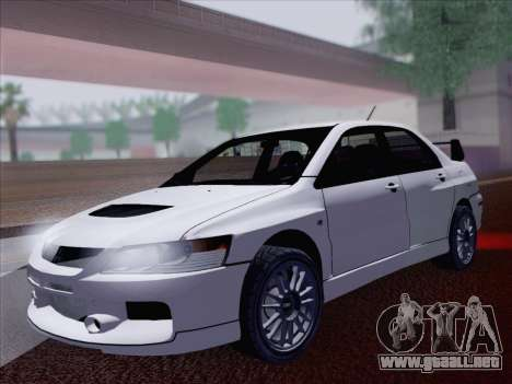 Mitsubishi Lancer Evo IX MR Edition para GTA San Andreas vista hacia atrás