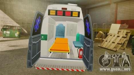Vapid Speedo AMR [ELS] para GTA 4 vista hacia atrás