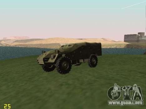 BTR-40 para GTA San Andreas vista hacia atrás