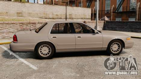 Ford Crown Victoria 1999 para GTA 4 left