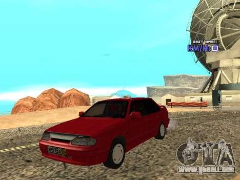 VAZ 2115 Taxi para GTA San Andreas