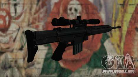 Snajperckaâ rifle negro para GTA San Andreas segunda pantalla