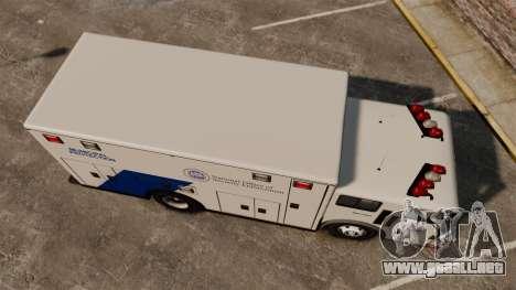 Hazmat Truck NOOSE [ELS] para GTA 4 visión correcta