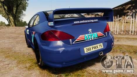 Peugeot 307 WRC para GTA 4 Vista posterior izquierda