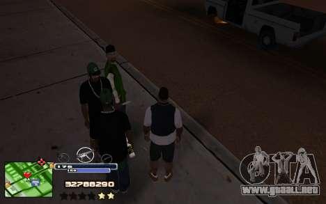 C-HUD Into para GTA San Andreas segunda pantalla