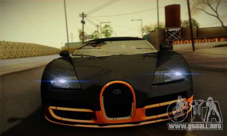 Bugatti Veyron Super Sport World Record Edition para visión interna GTA San Andreas
