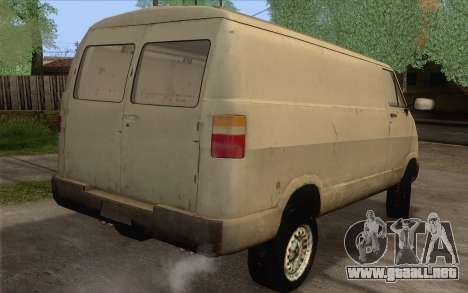 Dodge RAM Van 1500 para GTA San Andreas left