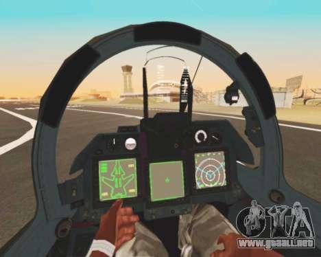Su-47 Berkut v1.0 para vista inferior GTA San Andreas