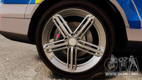 Audi Q7 Metropolitan Police [ELS] para GTA 4 vista hacia atrás