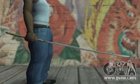 Akvirskaâ Katana de The Elder Scrolls IV: Oblivi para GTA San Andreas tercera pantalla