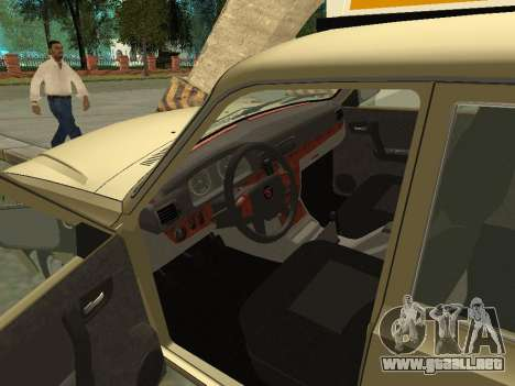 GAZ 31105 Volga Taxi para GTA San Andreas vista hacia atrás