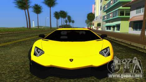 Lamborghini Aventador LP720-4 50th Anniversario para GTA Vice City left