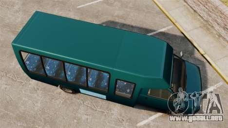 GTA V Brute Tour Bus para GTA 4 visión correcta