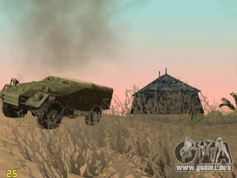 BTR-40 para vista inferior GTA San Andreas