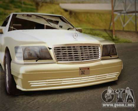 Mercedes-Benz S600 V12 Custom para la vista superior GTA San Andreas