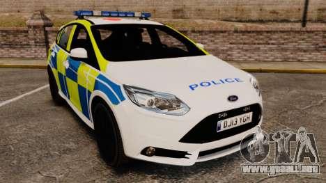 Ford Focus 2013 Uk Police [ELS] para GTA 4