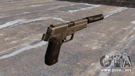 SIG-Sauer P226 pistola con silenciador para GTA 4 segundos de pantalla