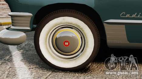 Cadillac Series 62 1949 para GTA 4 vista hacia atrás